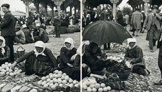 """""""The market in Tirana"""" (Photo: Marion Dönhoff, 1936)"""