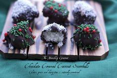 Chocolate Covered Coconut Snowballs #Grain Free