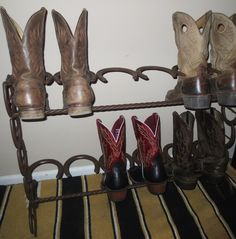 6 Pair Boot Rack | Western Designs