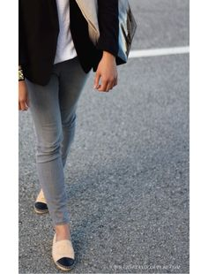 Ombre leather tote + chanel espadrilles  Style File: Mom On The Run ~ Craft and Couture