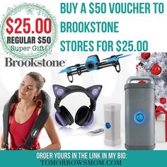 last minute shoppers can use this deal in store at the mall! Get a $50 voucher for $25! . Click link in my bio @tomorrowsmom -read  Fast Link:Type this link on your browser: http://tmget.info/4brookstone  or follow the link in my Bio a@Tomorrowsmom at TomorrowsMom.com #tomorrowsmom . #holidays #christmas #gifts #frugal #savings #deals #cosmicmothers #feminineenergy #loa #organic #fitmom #health101 #change #nongmo #organiclife #crunchymama #organicmom #gmofree #organiclifestyle #familysavings…