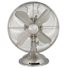 Shop for Hunter 12-inch Brushed Nickel Retro Metal Table Fan. Get free delivery at Overstock.com - Your Online Housewares Shop! Get 5% in rewards with Club O!