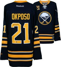 Kyle Okposo Buffalo Sabres Autographed Navy Reebok Premier Jersey -  Fanatics Reebok fb08ee214