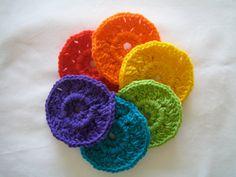 Pretty rainbow circles for an afghan