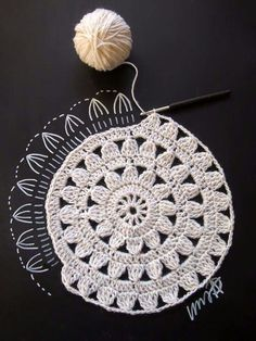 Crochet circle diagram pattern