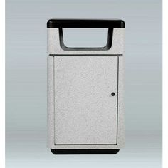 "Allied Molded Products Boulevard 27-Gal Side Opening Industrial Trash Bin Size: 41"" H x 26"" W x 26"" D, Color: Alabaster"