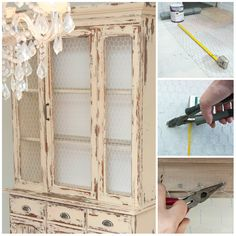 How To Add En Wire Furniture Post Shows Cut Paint And Attach Cabinet Doors This Is A Great Way That Farmhouse Look