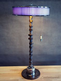 Cam shaft Table Lamp with WIFI and adjustable air filter color