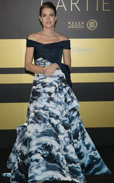 Charlotte Casiraghi of Monaco - classy & gorgeous run in the family as her grandmother is Hollywood icon Grace Kelly who became a real-life Princess when she married Prince Rainier of Monaco in Charlotte Casiraghi, Andrea Casiraghi, Princess Charlotte Of Monaco, Princess Charlene, Princess Stephanie, Grace Kelly, Best Prom Dresses, Lovely Dresses, Hollywood Actresses