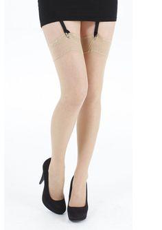 Lace Top Stockings - Vanilla
