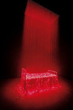 Light installations by Li Hui - http://www.youtube.com/watch?v=EsxUk8yvmWE#at=35