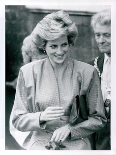 October 8, 1985: Princess Diana visits St Giles Hospital to see the work of the Drug Dependency Unit, Camberwell, London.