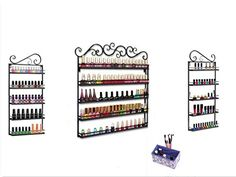Dazone DIY 5 Tier Decorative 3 in 1 Nail Polish Wall Rack Display Holds More than 200 Bottles Nail PolishBlack >>> You can get additional details at the image link.