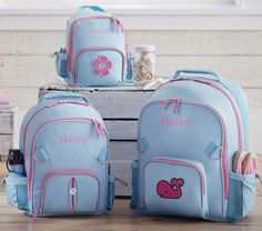these are adorable. go to potterybarn - kids - toddler shop - backpacks & lunch - fairfax aqua backpacks