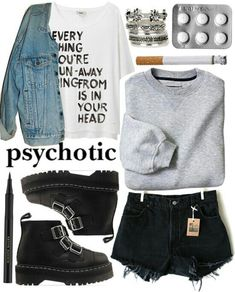 Edgy/rock/rebel outfit. Love the chunky boots. Effy Stonem inspired