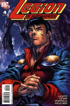 Legion of Super-Heroes #4 - alternate cover with Mon-El - Jim Lee tributes Giffen