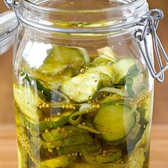 Refrigerator Bread and Butter Pickles via @browneyedbaker