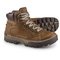 Men's CAT® Duncan Boots, Dark Beige - Hiking Boots & Shoes at Sportsman. Cheap Mens Fashion, Mens Boots Fashion, Me Too Shoes, Men's Shoes, Shoe Boots, Trail Shoes, Hiking Shoes, Most Comfortable Work Boots, Leather Men