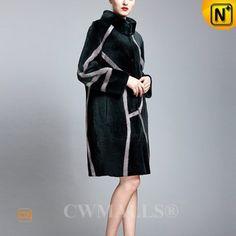 Shearling Sheepskin Coat Women CW652131 www.cwmalls.com