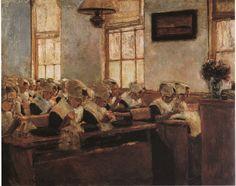 Holländische Nähschule  Max Liebermann  Rotterdam Orphans ?
