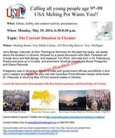 USA Melting Pot Event: Ukraine Meeting @ Troy Public Library