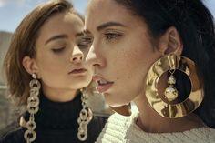 Structured statement earrings inspiration #minimalist #fashion #style #women #leathergoods
