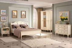 Спальня Wersal Taranko (Польша) - модульная мебель из натурального дерева в цветах - крем, белый, венге, тоффи. Альтек Мебель.