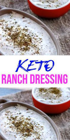 Keto homemade gluten free, sugar free ranch dip loved by all. DIY low carb ranch not store bought - no processed ingredients keto recipe. Simple keto ranch recipe you can make in n Sugar Free Salad Dressing, Keto Ranch Dressing Recipe, Low Carb Ranch Dressing, Sugar Free Ranch Dressing, Best Ranch Dressing, Good Healthy Recipes, Low Carb Recipes, Healthy Food, Healthy Eating