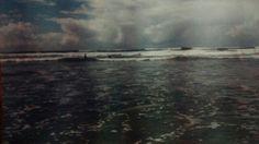 Praia em mongaguá , litoral de S.P.