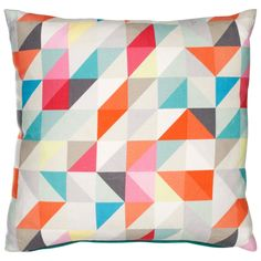 Geometric Print Cushion. Triangle pattern. John Lewis
