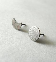 Moon Phases Sterling Silver Earrings