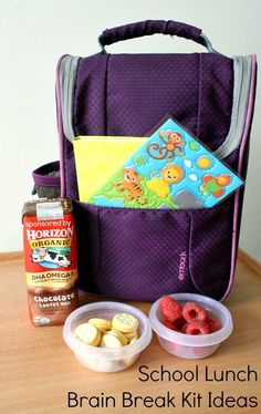 In addition to providing quality food and snack options, you can help prepare kids for the rest of the school day by providing easy school lunch brain break kits.