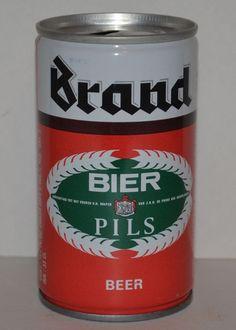 Brand Bier Pils Vintage Steel Pull Tab Beer Can 33CL Holland Royal Brand Brewery #BrandBierPils