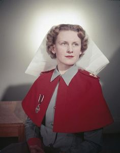 An officer of Queen Alexandra's Royal Army Nursing Corps, January 1956. She was serving at either Woolwich or Chelsea Military Hospital at the time of this photograph.