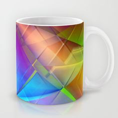 Buy Multicolored abstract no. 56 by Christine baessler as a high quality Mug. Worldwide shipping available at Society6.com. Just one of millions of products available.