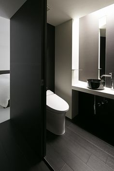 Design A Bathroom With A Sliding Door Beautiful Black And White Themed Home Interior Designs Interior
