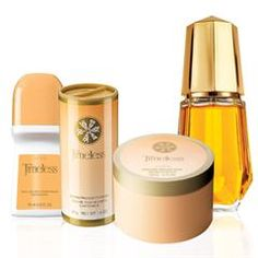 Timeless 4-Piece Layering Set, including cologne, deod., talc, and perfumed skin softener.  Great gift!  10.99