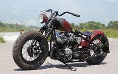 Télécharger fonds d'écran Bobber, Cool les motocyclettes, les Frais de motos, de grandes roues, de luxe Bouchon
