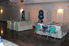 Allestimento Sala per 18° Party in tiffany e blue <3