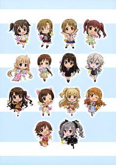 """""""Akagi Miria"""" """"Anastasia"""" """"Futaba Anzu"""" """"Honda Mio"""" """"Jougasaki Rika"""" """"Kanzaki Ranko"""" """"Maekawa Miku"""" """"Mimura Kanako"""" """"Moroboshi Kirari"""" """"Nitta Minami"""" """"Ogata Chieri"""" """"Shibuya Rin"""" """"Shimamura Uzuki"""" """"Tada Riina"""""""