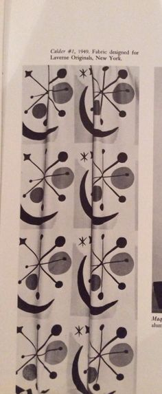 Alexander Calder fabric design for Laverne Originals, New York 1949 - love this!