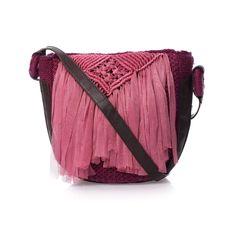 LUNA LLENA bag - just wonderful !!!    #pink, #bag, #macramé