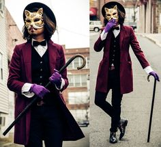 Delightful Love, Love, LOVE This Dapper Cat Costume. Masquerade Party Outfit, Halloween  Masquerade