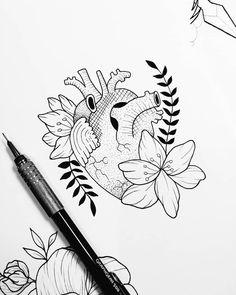 21 easy things to draw when you are bored 5 Cool Art Drawings, Art Drawings Sketches, Easy Drawings, Tattoo Drawings, Art Inspiration Drawing, Art Inspo, Arte Sketchbook, Anatomy Art, Sketch Painting