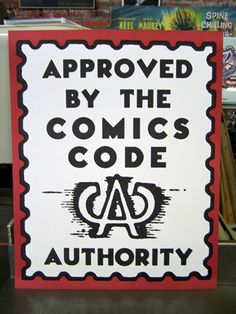 Approved by the Comics Code poster vintage comic book fun. $10.00, via Etsy.