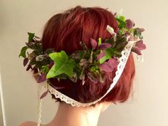 Ivy and purple crown by dahliasanddaydreams on Etsy