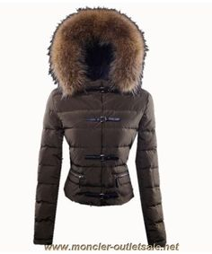 Discounts Moncler Crecerelle Top Quality Down Jacket Women Coffee
