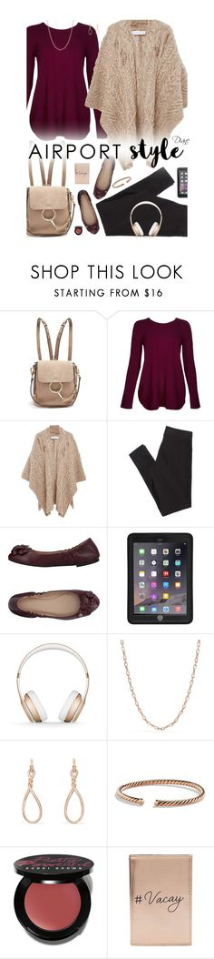 """""""Airport Style"""" by diane-hansen ❤ liked on Polyvore featuring Chloé, Kinross, Partow, American Eagle Outfitters, Tory Burch, Griffin, Beats by Dr. Dre, David Yurman, Bobbi Brown Cosmetics and Miss Selfridge"""