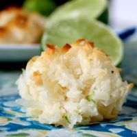 Coconut lime macaroons.