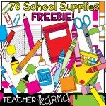 FREE CLIP ART This huge 78 piece clipart bundle of dozens of school supplies would be just perfect for handouts, organizing supply bins, centers and more. Add these graphics to your classroom materials and TpT items! Free School Supplies, School Supplies Organization, Classroom Supplies, Classroom Themes, Organizing School, Classroom Freebies, School Classroom, Online Classroom, Spanish Classroom